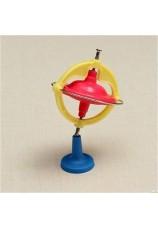 Giroscope métallique lumineux