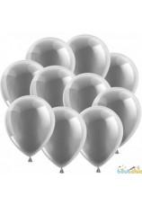10 ballons argentés 30cm