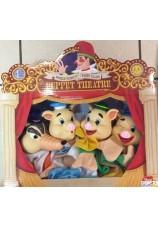 Marionnettes 3 petits cochons 4 pieces