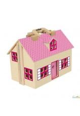 Maison de poupée en bois - valisette