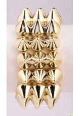 Bracelet à piques doré