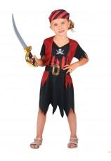 Déguisement petite fille pirate 3/4 ans
