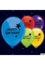 5 Ballons led happy birthday