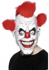 Masque de clown flamme halloween