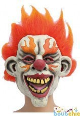 Masque de clown flammes halloween