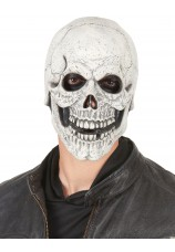 Masque en latex integral avec barbe et sourcils