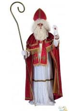 Saint-nicolas complet avec perruque barbe