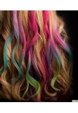 Craies cheveux assorties (6 pièces)