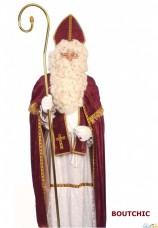 Saint-nicolas avec perruque et barbe