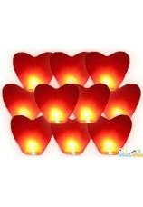 Lanterne céleste coeur blanche