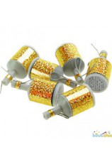 20 party poppers gold et silver