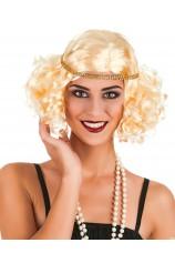 Perruque années 20 blonde