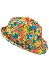 Chapeau power flower - hippie