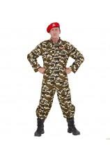 Déguisement militaire commando adulte