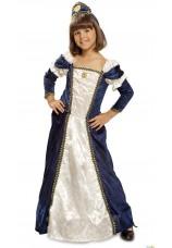 Princesse médiévale bleue fille