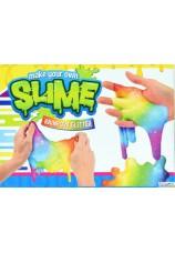 Fabrique ton slime multicolor à paillettes