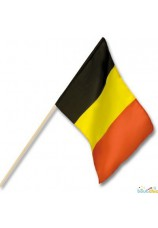 12 X Drapeaux belge à main