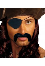Moustache et cache oeil de pirate