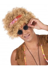 Afro blonde hippie