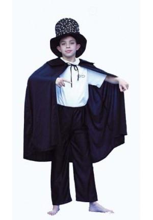 cape noire en velours 6 à 12 ans