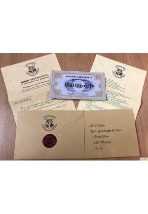 Harry Potter Lettre d'admition et ticket de train Hogwarts