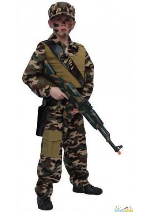 Militaire avec gilet pare balle
