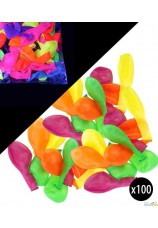 Ballons fluo 100 pieces