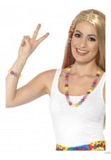 collier et bracelet peace multicolor