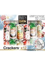 12 crackers de fête pour enfants