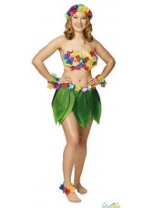 Jupe hawaienne feuilles de bananier