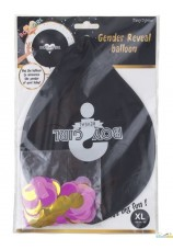 ballon confettis maxi - revelation bébé fille