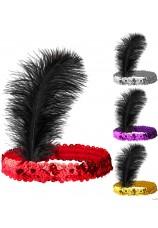 Bandeau charleston coloré avec plume