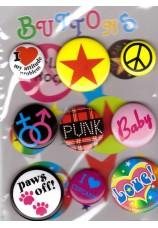 Hippie badges assortis