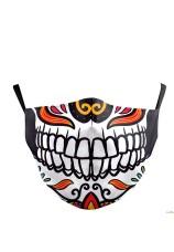 masque de bouche squelette