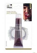 Sang en gel + dentier de vampire - 28 ml