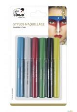 6X Stylo maquillage à l'eau