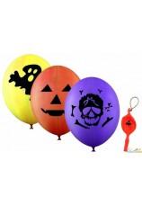 4 maxi ballons halloween 45 cm