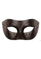 Masque venitien homme look cuir